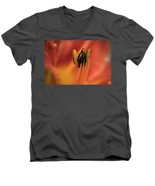 Persimmon Lilly Men's V-Neck T-Shirt