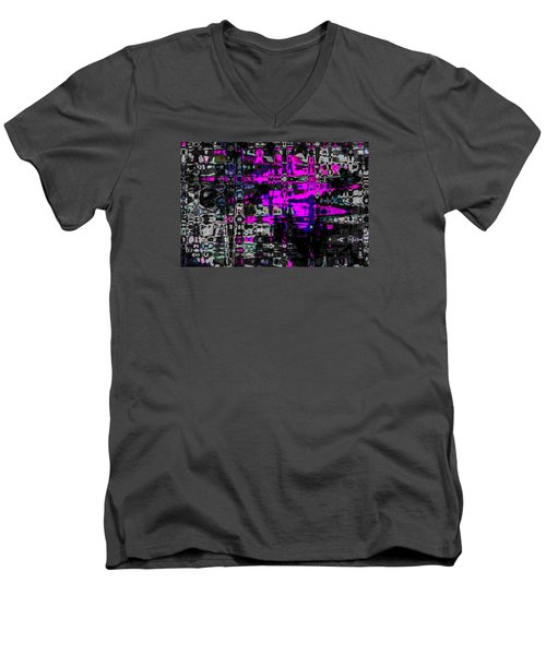 Men's V-Neck T-Shirt featuring the photograph Persons,places,things 2 by Penny Lisowski
