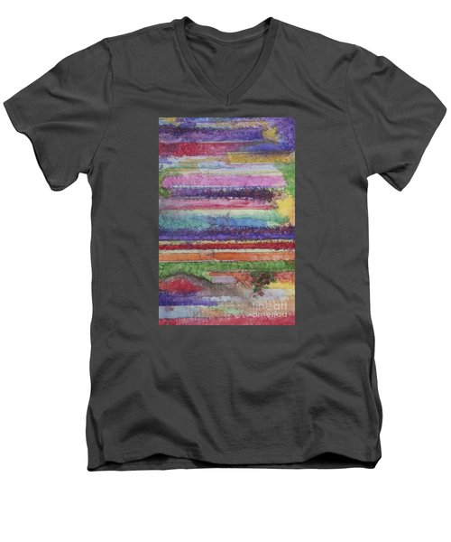 Men's V-Neck T-Shirt featuring the painting Perspective by Jacqueline Athmann