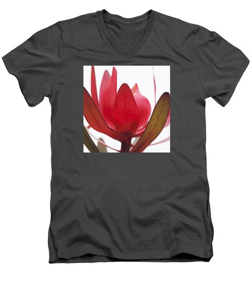 Men's V-Neck T-Shirt featuring the digital art Petals by Margaret Hormann Bfa