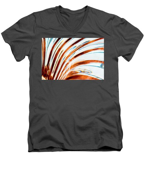 Men's V-Neck T-Shirt featuring the photograph Petals Of Glass by Wendy Wilton