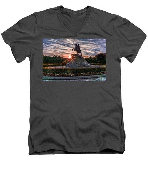 Peter Rides At Dawn Men's V-Neck T-Shirt