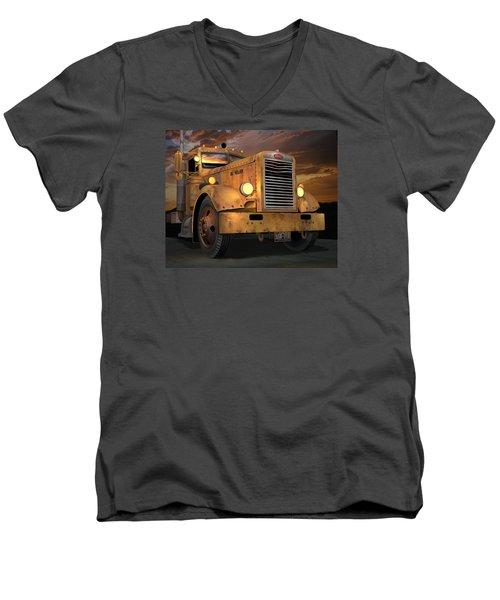 Peterbilt Ol Yeller Men's V-Neck T-Shirt by Stuart Swartz
