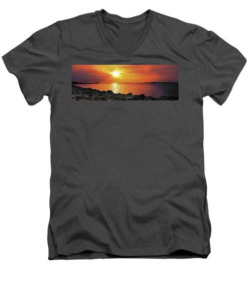 Petoskey Sunset Men's V-Neck T-Shirt