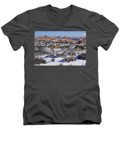 Petrified Dunes At Arches National Park Men's V-Neck T-Shirt