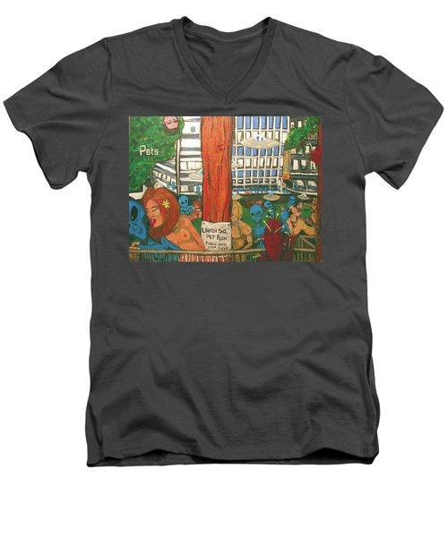 Pets Men's V-Neck T-Shirt