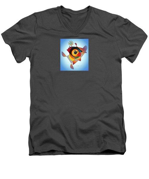 Petunia Parrot 2 Men's V-Neck T-Shirt
