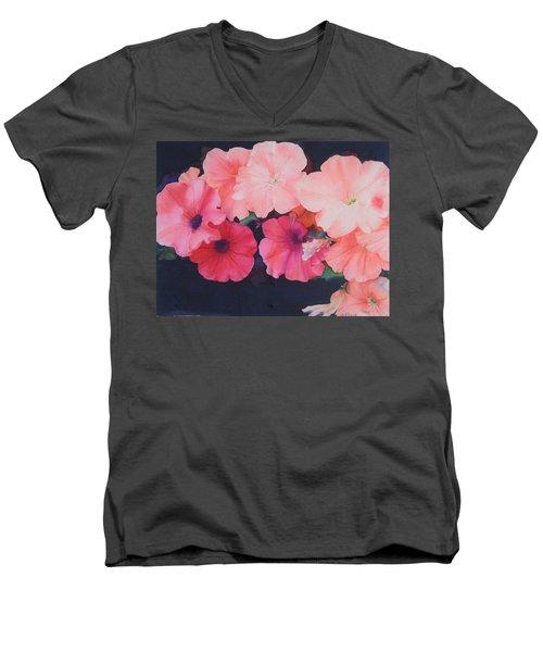 Petunias Men's V-Neck T-Shirt