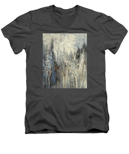 Phantom Glory Men's V-Neck T-Shirt by Tatiana Iliina