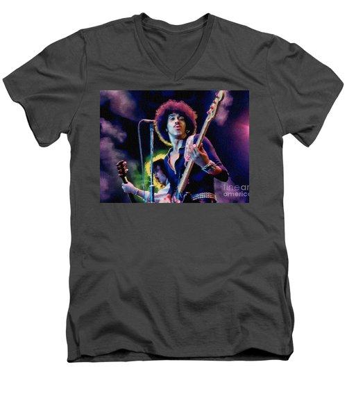 Phil Lynott - Thin Lizzy Men's V-Neck T-Shirt