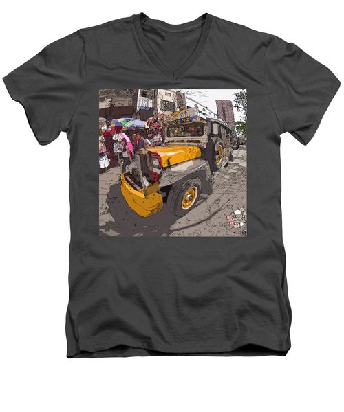 Philippines 1261 Jeepney Men's V-Neck T-Shirt