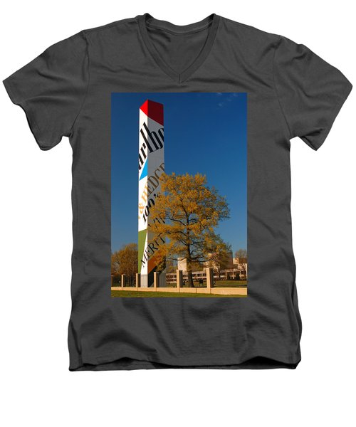 Phillip Morris Men's V-Neck T-Shirt by James Kirkikis