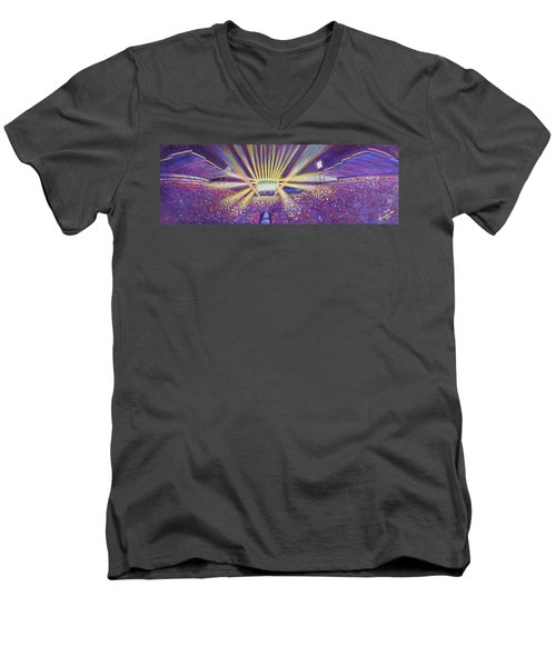 Phish At Dicks 2016 Men's V-Neck T-Shirt by David Sockrider
