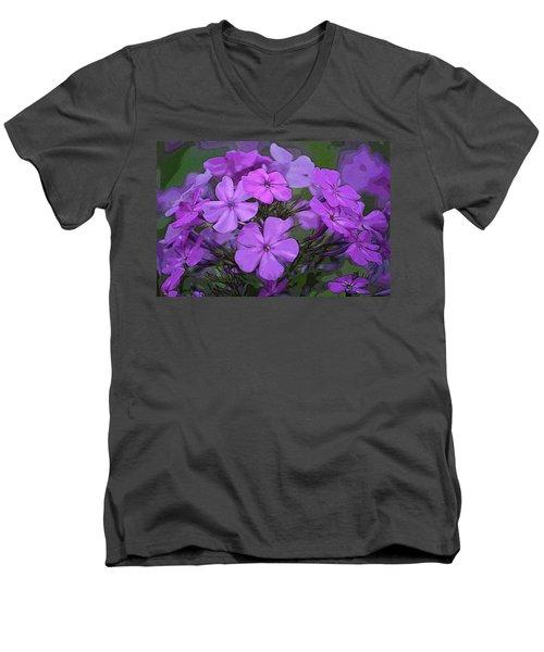Phlox Men's V-Neck T-Shirt