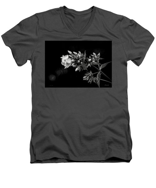 Phlox In Black And White Men's V-Neck T-Shirt