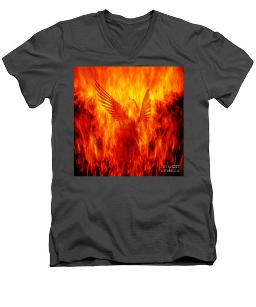 Phoenix Rising Men's V-Neck T-Shirt
