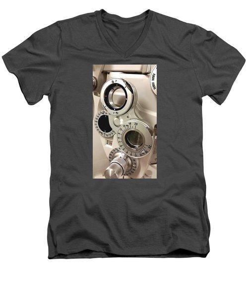 Phoropter Men's V-Neck T-Shirt by Keith Hawley