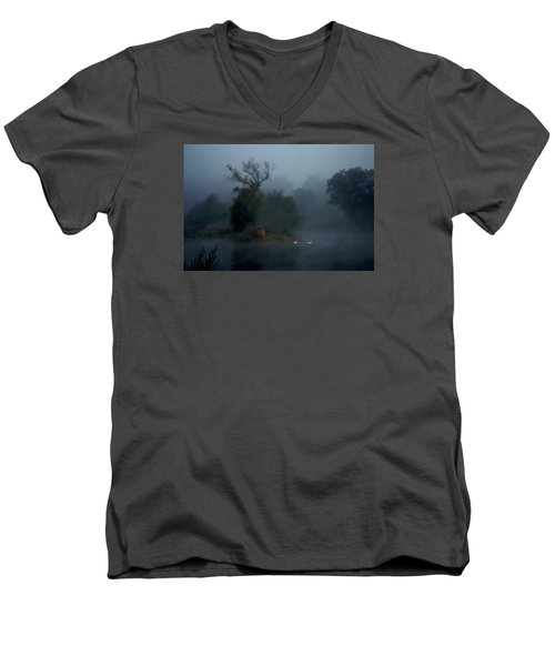 Men's V-Neck T-Shirt featuring the photograph Photo By Yossi Danielzon by Meir Ezrachi