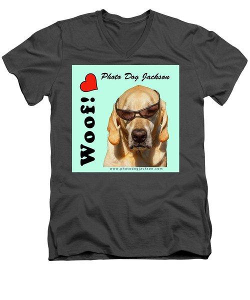 Photo Dog Jackson Mug Men's V-Neck T-Shirt