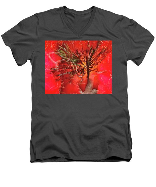 Men's V-Neck T-Shirt featuring the photograph Photo Sin Thesis by Susan Capuano