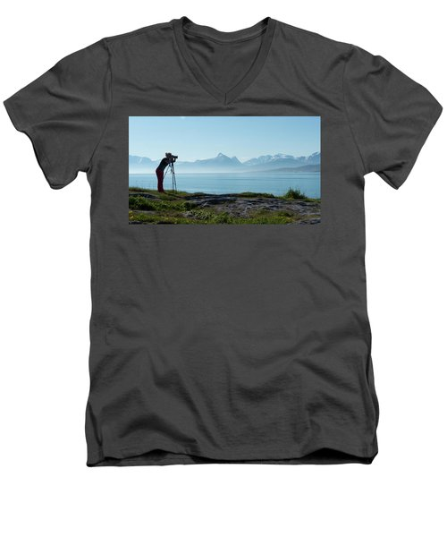 Photograph In Norway Men's V-Neck T-Shirt
