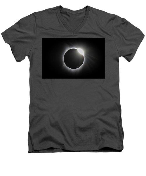 Grandfather Mountain Sunrise Men's V-Neck T-Shirt