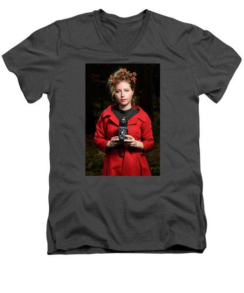 Photographer Men's V-Neck T-Shirt by Robert Krajnc