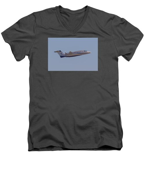Piaggio P-180 Men's V-Neck T-Shirt