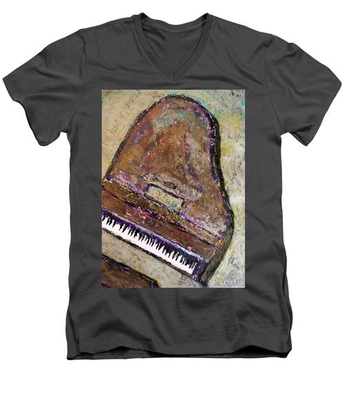 Piano In Bronze Men's V-Neck T-Shirt