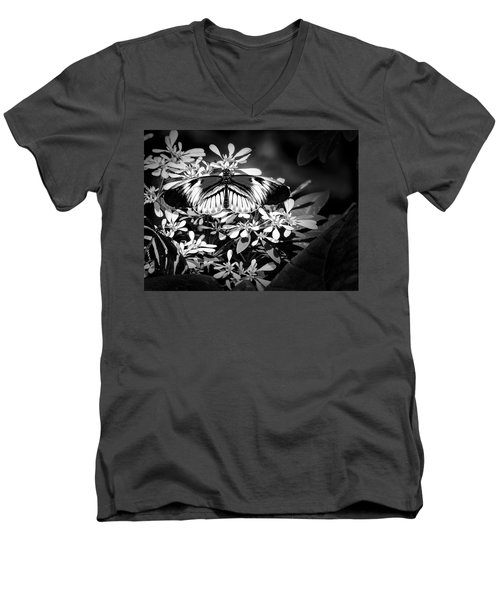 Men's V-Neck T-Shirt featuring the photograph Piano Key 4 by Penny Lisowski
