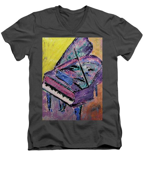 Piano Pink Men's V-Neck T-Shirt