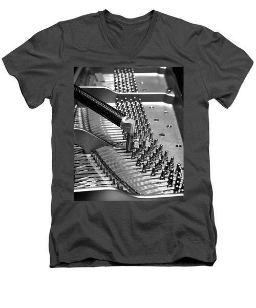 Piano Tuning Bw Men's V-Neck T-Shirt