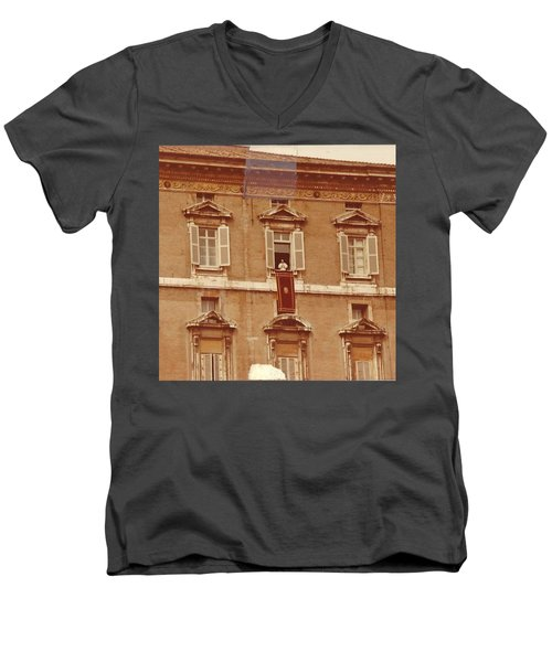 Piazza San Pietro-popes Window Men's V-Neck T-Shirt