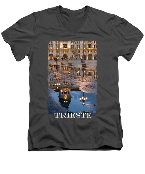 Piazza Unita In Trieste Men's V-Neck T-Shirt