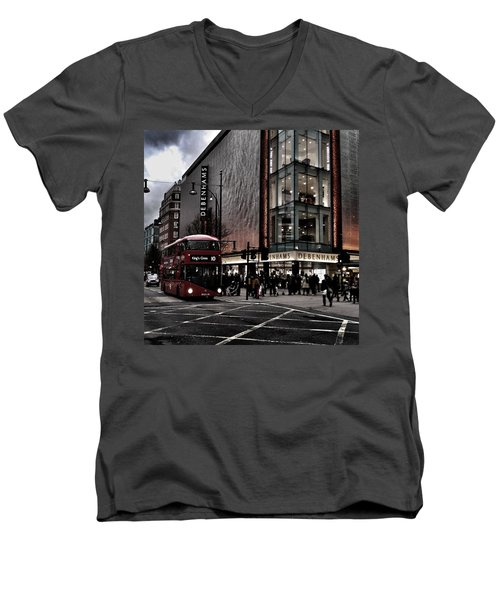 Piccadilly Circus Men's V-Neck T-Shirt