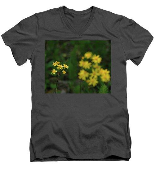 Men's V-Neck T-Shirt featuring the photograph Pick Me Daisies by LeeAnn McLaneGoetz McLaneGoetzStudioLLCcom