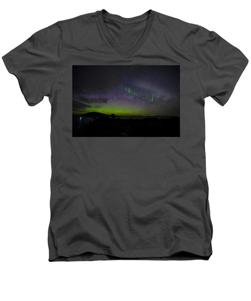 Men's V-Neck T-Shirt featuring the photograph Picket Fences by Odille Esmonde-Morgan