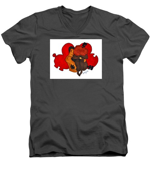Picking Up The Pieces Men's V-Neck T-Shirt by Diamin Nicole