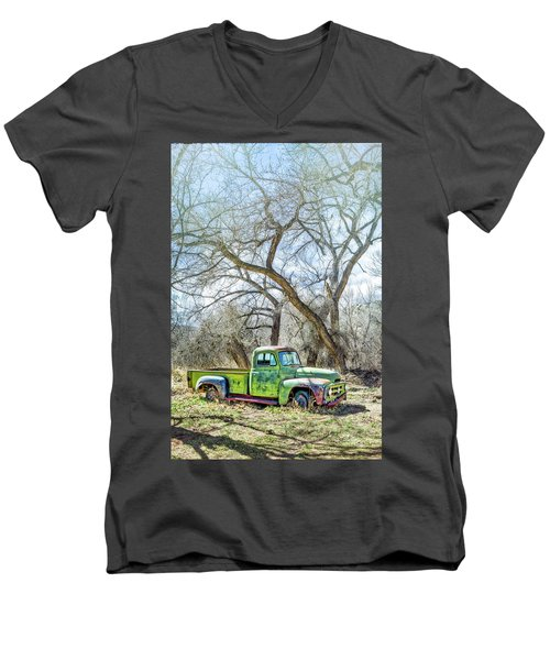 Pickup Under A Tree Men's V-Neck T-Shirt