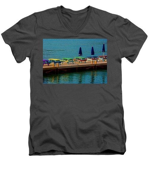 Picnic On The Water Men's V-Neck T-Shirt