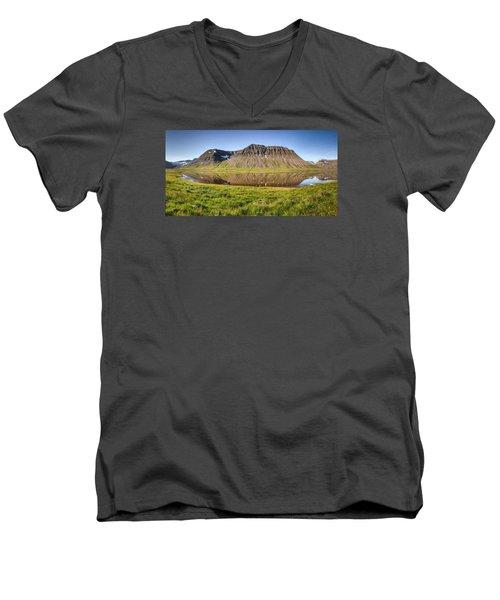 Picnic - Panorama Men's V-Neck T-Shirt by Brad Grove
