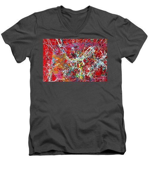 Pictographic Interpretation Men's V-Neck T-Shirt