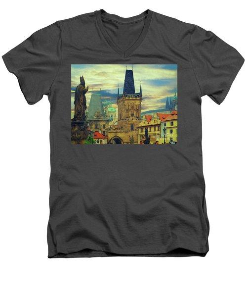 Picturesque - Prague Men's V-Neck T-Shirt