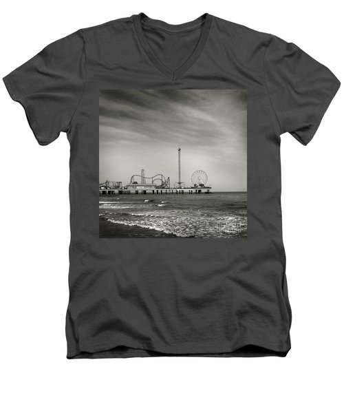Pier 2 Men's V-Neck T-Shirt by Sebastian Mathews Szewczyk