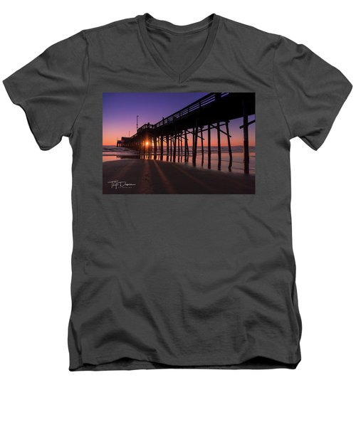 Pier In Purple Men's V-Neck T-Shirt