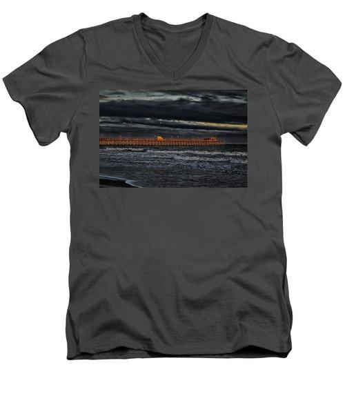 Pier Into Darkness Men's V-Neck T-Shirt