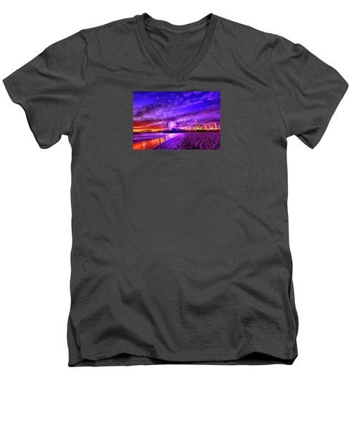 Pier Of Lights Men's V-Neck T-Shirt