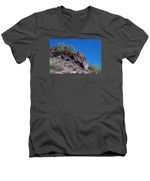 Piestewa Peak Men's V-Neck T-Shirt by Greg Graham