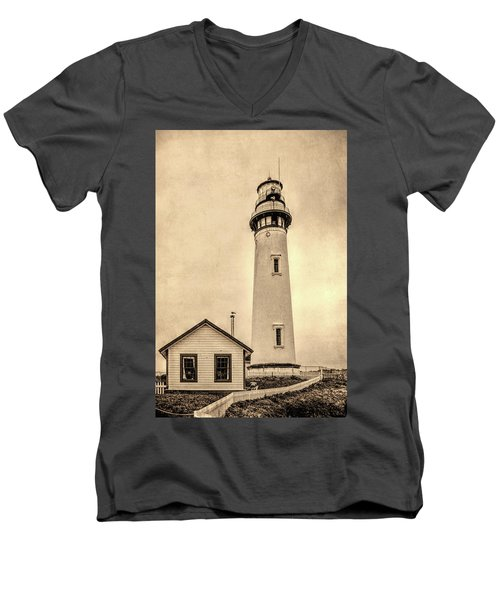 Pigeon Point Light Station Pescadero California Men's V-Neck T-Shirt
