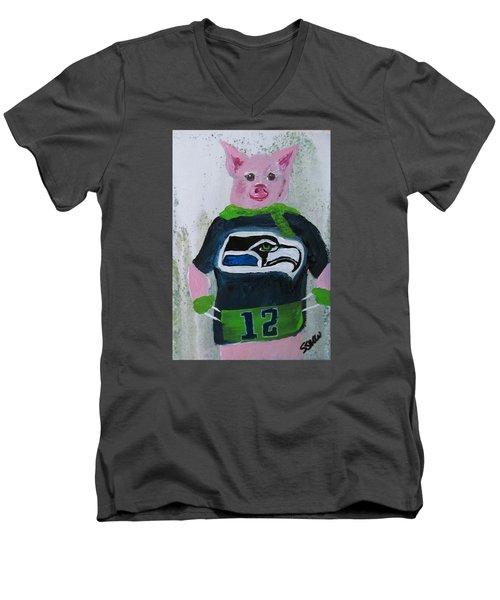 Piglets Day Out Men's V-Neck T-Shirt
